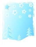 δέντρα χιονιού Χριστουγέν& Στοκ φωτογραφία με δικαίωμα ελεύθερης χρήσης