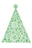 δέντρο έλατου σχεδίου Χρ διανυσματική απεικόνιση