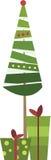 Δέντρο έλατου Χριστουγέννων με τα δώρα Στοκ εικόνες με δικαίωμα ελεύθερης χρήσης