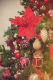 Δέντρο έλατου Χριστουγέννων με τη διακόσμηση στοκ φωτογραφία με δικαίωμα ελεύθερης χρήσης
