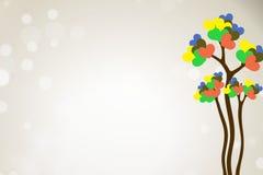 Δέντρο αγάπης καρδιών Στοκ φωτογραφία με δικαίωμα ελεύθερης χρήσης