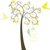 Δέντρο αγάπης με τα πουλιά Στοκ φωτογραφία με δικαίωμα ελεύθερης χρήσης