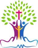 Δέντρο ανθρώπων χριστιανισμού διανυσματική απεικόνιση