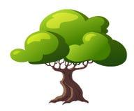 Δέντρο απεικόνισης για τα κινούμενα σχέδια Στοκ φωτογραφία με δικαίωμα ελεύθερης χρήσης