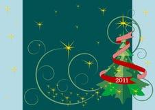δέντρο αστεριών γιρλαντών Χ Στοκ εικόνα με δικαίωμα ελεύθερης χρήσης