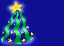 δέντρο αστεριών Χριστουγέννων ανασκόπησης Στοκ εικόνα με δικαίωμα ελεύθερης χρήσης