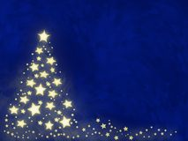 δέντρο αστεριών Χριστουγέννων Στοκ Φωτογραφία