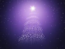 δέντρο αστεριών Χριστουγ Στοκ φωτογραφία με δικαίωμα ελεύθερης χρήσης