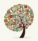 Δέντρο βιβλίων έννοιας ελεύθερη απεικόνιση δικαιώματος