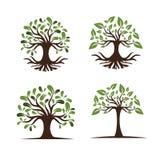 Δέντρο για το σύνολο λογότυπων στοκ εικόνες με δικαίωμα ελεύθερης χρήσης