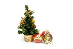 δέντρο γουνών Χριστουγένν& Στοκ Φωτογραφία