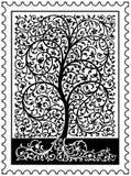 δέντρο γραμματοσήμων ζωής διανυσματική απεικόνιση