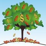 δέντρο δολαρίων διανυσματική απεικόνιση