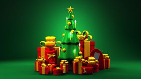 δέντρο δώρων Χριστουγέννων απεικόνιση αποθεμάτων