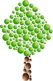 δέντρο εικονιδίων φυσαλί Στοκ φωτογραφία με δικαίωμα ελεύθερης χρήσης