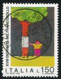 Δέντρο θεραπείας αγοριών με το σχεδιασμό παιδιών Στοκ Εικόνα