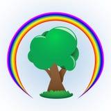 Δέντρο και ουράνιο τόξο Στοκ εικόνες με δικαίωμα ελεύθερης χρήσης