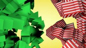 Δέντρο και συσκευασία δώρων Χριστουγέννων διανυσματική απεικόνιση