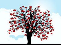 Δέντρο καρδιών Στοκ εικόνες με δικαίωμα ελεύθερης χρήσης