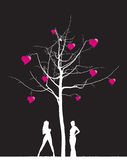 δέντρο καρδιών Στοκ Φωτογραφία