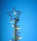 δέντρο καρτών Χριστουγένν&omega Στοκ Φωτογραφίες