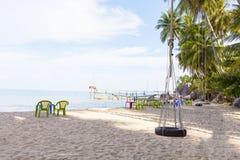 Δέντρο καρύδων στην παραλία καρύδων στο νησί γιων, Kien Giang, Βιετνάμ Κοντά στο νησί Phu Quoc Στοκ φωτογραφία με δικαίωμα ελεύθερης χρήσης