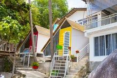 Δέντρο καρύδων στην παραλία καρύδων στο νησί γιων, Kien Giang, Βιετνάμ Κοντά στο νησί Phu Quoc Στοκ Εικόνα