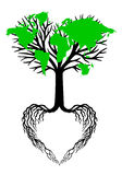 Δέντρο καρδιών με τον πράσινο παγκόσμιο χάρτη, διάνυσμα Στοκ φωτογραφίες με δικαίωμα ελεύθερης χρήσης