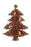 δέντρο καφέ Χριστουγέννων Στοκ Εικόνα