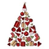 δέντρο κολάζ Χριστουγένν&ome Στοκ Εικόνα