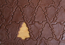 δέντρο κοπτών μπισκότων Χρι&sigm Στοκ φωτογραφίες με δικαίωμα ελεύθερης χρήσης