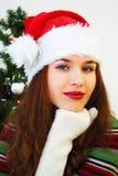 δέντρο κοριτσιών Χριστου& Στοκ φωτογραφία με δικαίωμα ελεύθερης χρήσης