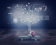 Δέντρο κυκλωμάτων δικτύων διάνυσμα δικτύων απεικόνισης σχεδίου έννοιας Στοκ φωτογραφία με δικαίωμα ελεύθερης χρήσης