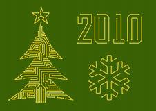 δέντρο κυκλωμάτων Χριστο& Στοκ εικόνα με δικαίωμα ελεύθερης χρήσης