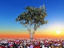 δέντρο λουλουδιών απεικόνιση αποθεμάτων