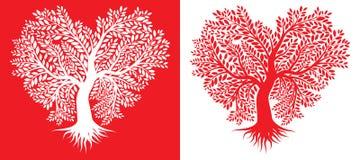 Δέντρο με μορφή της καρδιάς Στοκ Φωτογραφία