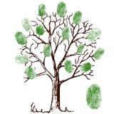 Δέντρο με τα δακτυλικά αποτυπώματα ελεύθερη απεικόνιση δικαιώματος