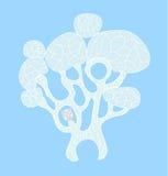 Δέντρο με την κουκουβάγια ύπνου Στοκ εικόνες με δικαίωμα ελεύθερης χρήσης