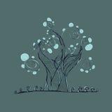 Δέντρο με τους κλάδους και τα φύλλα, χλόη Στοκ φωτογραφία με δικαίωμα ελεύθερης χρήσης