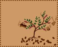 Δέντρο με το δοχείο και το φλυτζάνι καφέ Στοκ Εικόνες