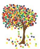Δέντρο με το φύλλωμα χρώματος απεικόνιση αποθεμάτων