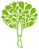 δέντρο μορφής βουρτσών ελεύθερη απεικόνιση δικαιώματος