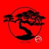Δέντρο μπονσάι, διανυσματική απεικόνιση Απεικόνιση αποθεμάτων