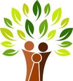 δέντρο οικογενειακών λογότυπων ελεύθερη απεικόνιση δικαιώματος