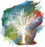 δέντρο παφλασμών χρώματος διανυσματική απεικόνιση