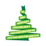 Δέντρο που γίνεται με τις πράσινες κορδέλλες διανυσματική απεικόνιση