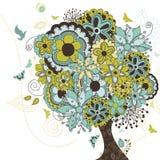 Δέντρο που εκρήγνυται με τα άνθη Στοκ Εικόνα