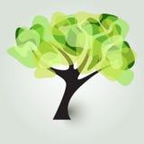 Δέντρο σε πράσινο Στοκ εικόνες με δικαίωμα ελεύθερης χρήσης
