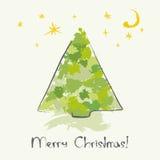 δέντρο σκίτσων Χριστουγέν& Στοκ Φωτογραφίες