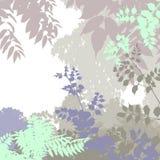 δέντρο σκιαγραφιών φύλλων Στοκ Εικόνες